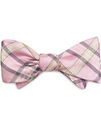 Brooks Brothers Tartan Bow Tie - Lyst