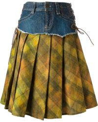 Jean Paul Gaultier Denim Layer Skirt - Lyst