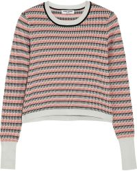 Opening Ceremony Striped Jacquardknit Sweater - Lyst