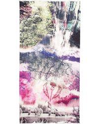 Fraas Digital Trees Scarf - Lyst