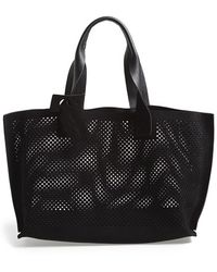 Pedro Garcia - Perforated Suede Tote - Lyst