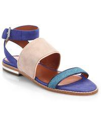 Rebecca Minkoff Serena Suede & Calf Hair Sandals - Lyst