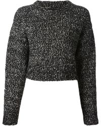 Proenza Schouler Cropped Knit Sweater - Lyst