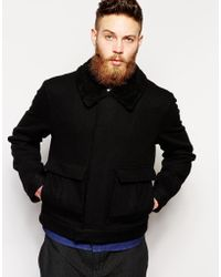 Uniforms for the Dedicated - Bomber Jacket With Shearling Collar - Lyst