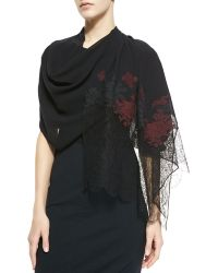 Erdem Embroidered Multi-lace Scarf - Lyst