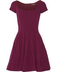 Zac Posen Crepe Mini Dress - Lyst