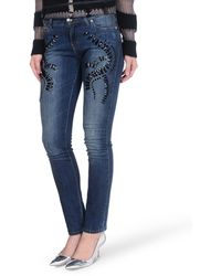 Blumarine Blue Denim Pants - Lyst