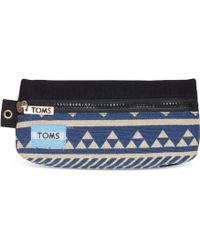 TOMS - Indigo Ikat Traveller Pencil Case - Lyst