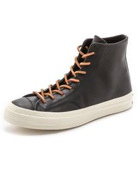 Converse All Star '70S High Top Leather Sneakers - Lyst