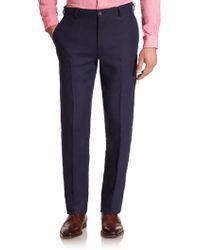 Polo Ralph Lauren Custom Fit Linen Trousers - Lyst