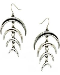 Low Luv by Erin Wasson Negative Space Crescent Earrings - Lyst