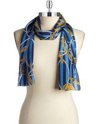 Lauren by Ralph Lauren Striped Bridle Silk Scarf - Lyst