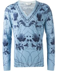 Alexander McQueen Bandana Intarsia Sweater - Lyst