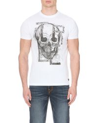 True Religion Skull and Stud-detail Cotton-jersey T-shirt - Lyst