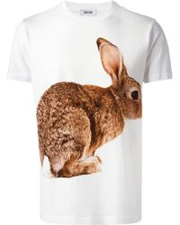 Moschino Rabbit Print T-shirt - Lyst