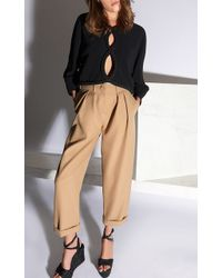Jay Ahr - Cropped Pleated Wool Trouser - Lyst