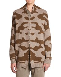 Current/Elliott The Oversized Camo Cardigan green - Lyst