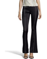 ABS By Allen Schwartz - Black And Gold Stretch Flared Skinny Trousers - Lyst
