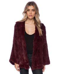 525 America - Open Rabbit Fur Full Sleeve Jacket - Lyst