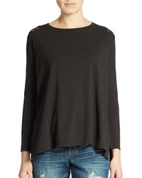 DKNY Lace Back Top - Lyst