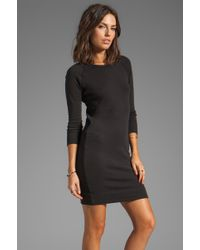 James Perse Raglan Sweatshirt Dress - Lyst
