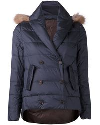 Brunello Cucinelli B Reversible Coat - Lyst
