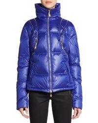 Versace Zip Detailed Puffer Jacket - Lyst