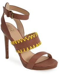Joe's Jeans 'Riana' Leather Platform Sandal - Lyst