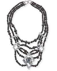 Alexis Bittar Miss Havisham Onyx Beaded Necklace - Lyst
