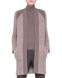 Akris Cashmereboucle Long Cardigan - Lyst