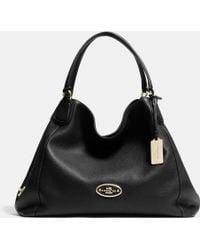 Coach Edie Shoulder Bag In Leather - Lyst