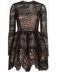 Alexis   Malin Embroidered Lace Sequin Frill Flare Dress   Lyst