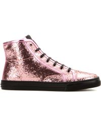 Gucci California Glitter Hightop Sneakers - Lyst