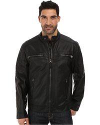 Calvin Klein Faux Leather Four Pocket Moto Jacket - Lyst