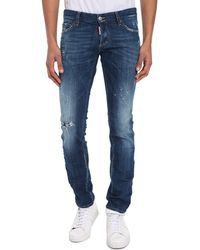 DSquared² Slim-Fit Logo Stitched-Up Jeans - Lyst