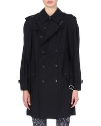 Comme Des Garçons Double-breasted Trench Coat - Lyst