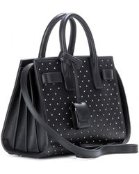 Saint Laurent Sac De Jour Baby Studded Leather Tote - Lyst
