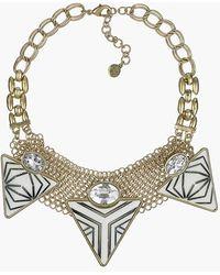 Sam Edelman - Stone & Crystal Statement Necklace - Lyst