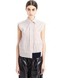 Paco Rabanne New Season - Womens Sleeveless Striped Shirt - Lyst