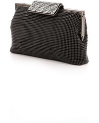 Whiting & Davis Crystal Clasp Clutch - Black - Lyst