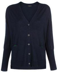 Paul Smith | Women's Navy Oversized Merino Wool Cardigan | Lyst