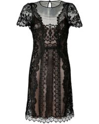 Alberta Ferretti Lace Cocktail Dress - Lyst