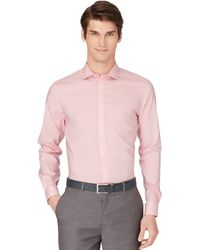 Calvin Klein Fine Check Sport Shirt - Lyst