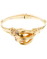 Alexander McQueen Skull and Claw Blacelet - Lyst