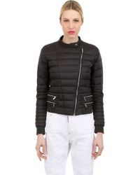 Add Diagonal Zip Quilted Nylon Down Jacket - Lyst