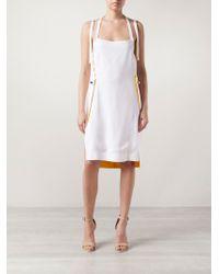 Atto - Apron Dress - Lyst