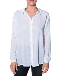 Bella Luxx Oversized Button Down Shirt - Lyst