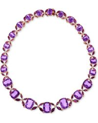 Lali Jewels - Rhodolite Garnet (24-5/8 Ct. T.w.) And Diamond (3/4 Ct.t.w.) Collar Necklace In 14k Rose Gold - Lyst