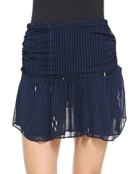 Etoile Isabel Marant Cary Striped Miniskirt - Lyst