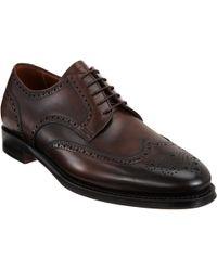 Battistoni Leather Wingtip Balmoral - Lyst